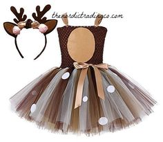 Toddler costumes girl - Christmas Costumes For Girls Little Girls Christmas Eve Xmas Dress up Party Dresses Santa Reindeer Costume – Toddler costumes girl Costume Bambi, Girl Deer Costume, Costumes Avec Tutu, Deer Halloween Costumes, Costume D'halloween Fille, Reindeer Costume, Christmas Costumes, Halloween Dress, Costume Dress