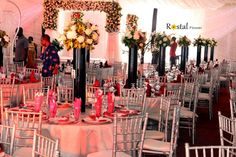 Presenting Rostal Flowers & Accessories – Centrepieces, Gazebos, Drapery & More – Amazing Wedding & Event Decor | Bella Naija