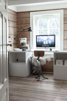 Is To Me interior inspiration | White & wood workspace