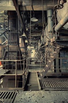 industrial, beauty, by Aurélien Villette Abandoned Mansions, Abandoned Buildings, Abandoned Places, Abandoned Factory, 40k Terrain, Industrial Architecture, Old Factory, Industrial Photography, Urban Decay