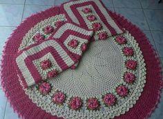 Crochet Rugs set (set de tapetes tejidos)