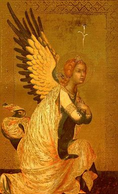 angel paintings by the masters | The Angel of the Annunciation Simone Martini Wholesale Oil Painting ...