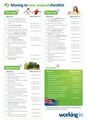 Moving checklist | Working In New Zealand