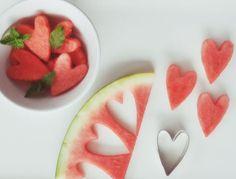 melon hearts Christmas starters - yummy food.......