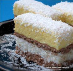 Za sve kokosoljupce.... kolac sa puno kokosa :) Bosnian Recipes, Croatian Recipes, Baking Recipes, Cookie Recipes, Dessert Recipes, Kolaci I Torte, Torte Cake, Little Cakes, Sweet Cakes