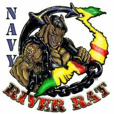 Get the US Navy River Rat Challenge Coin designed and crafted by Vision-Strike-Coins. Military Units, Military Art, Military Apparel, Military Clothing, Navy Marine, Us Navy, Vietnam Veterans, Vietnam War, Air Force National Guard
