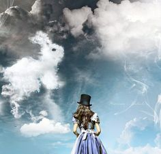 White Rabbit in the sky! #Alice in #Wonderland.