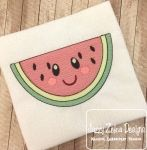 Watermelon 104 with face Sketch Embroidery Design