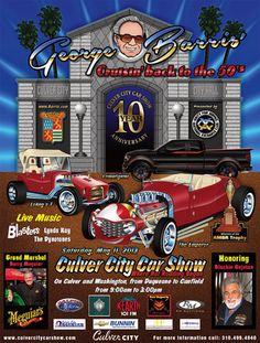 10th Annual Car show in downtown Culver City on Sat. May 11 from 9 a.m. – 3 p.m