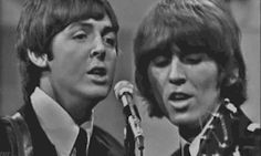 my gif gif Black and White the beatles Paul McCartney george harrison Beatles gif 1960's 1965 paul mccartney gif george harrison gif i feel fine