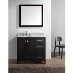 "compare prices for Virtu USA 36"" Caroline Avenue Single Bathroom Vanity – Espresso OnSale Immediately for sale online 2013"