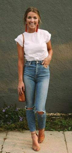 outfit ideas for women * outfit ideas ; outfit ideas for women ; outfit ideas for winter ; outfit ideas for school ; outfit ideas for women over 40 ; Looks Cool, Looks Style, Mode Outfits, Casual Outfits, Casual Jeans Outfit Summer, Heels Outfits, Classy Outfits, Cute Jean Outfits, Outfit Ideas Summer