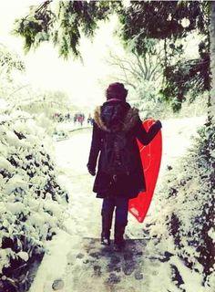 Sledding #snow #winterwhite #udderlysmooth