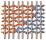 Handgemaakte tapijten kelim stapel weven