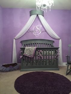 Purple and gray baby room purple and gray nursery baby room decor paint colors grey purple . purple and gray baby room Baby Bedroom, Baby Room Decor, Nursery Room, Room Baby, Baby Girl Nursery Bedding, Girl Decor, Bed Room, Kids Bedroom, Princess Nursery