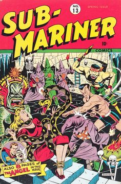 Alex Schomburg - Sub-Mariner Comics #13, published by Timely Comics, Spring 1944.