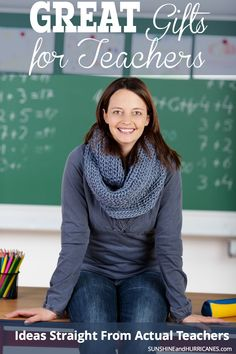 Are you never quite sure what to get your kids teachers for holiday, teacher appreciation or end of year gifts? We talked to all sorts of teachers to get ideas straight from them about what they would most enjoy getting from their students. All their suggestions are collected here to help you pick out the perfect teacher gift this year! Gifts for Teachers. SunshineandHurricanes.com