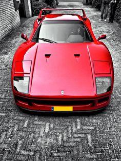 Rosso Corsa Red #Ferrari #F40                                                                                                                                                      Más
