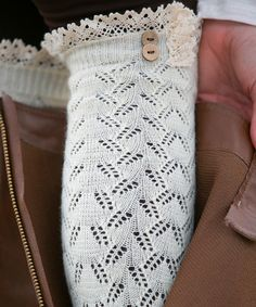 Look at this Ivory Lace Leg Warmers on #zulily today!