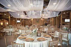 Barn Reception with Draping