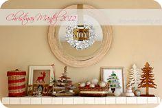 coastal and rustic Christmas mantel