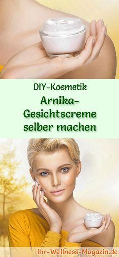 DIY-Kosmetik-Rezept: Arnika-Gesichtscreme selber machen#diy#selbermachen#gesichtspflege#naturkosmetik#kosmetik Diy Beauty, Funny Quotes, Soap, Personal Care, Fitness, Nice, Nature, Blog, Faces Cosmetics
