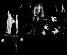 Ulver, their old stuff. (Norway) and I've seen weirder pics of bands.