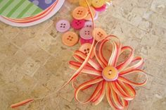 how to make this (and other) cute little ribbon flower