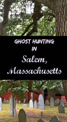 A day with my boy looking for ghosts in historic Salem, Ma the location of the iconic witch trials. This graveyard is rumored to be haunted by a little boy who is rumored to make noises in this corner covered by the same trees the witches were hung from.