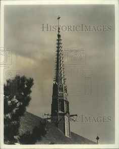 1965 Press Photo Gothic Spire, CIC Church in Towson, MD