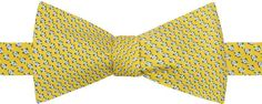 Tommy Hilfiger Men's Micro Fish To-Tie Silk Bow Tie