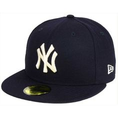 New Era New York Yankees Classic Gray Under 59FIFTY Cap ($19) ❤ liked on Polyvore featuring men's fashion, men's accessories, men's hats, navy, mens caps and hats and mens baseball hats