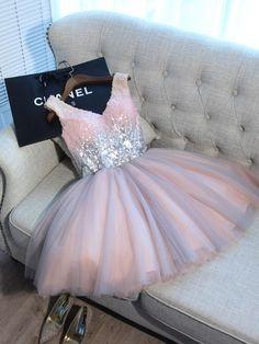 Pink Homecoming Dress Short/Mini Prom Drsess Juniors Homecoming Dresses SKY025