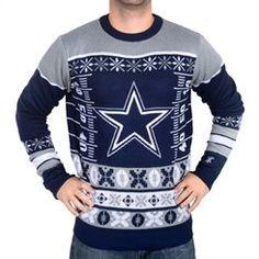 Dallas Cowboys Klew Navy Big Logo Ugly Sweater