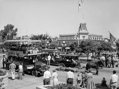 Main Street, USA., the only original land at Disneyland that has not been significantly altered, was inspired in part by Walt Disney's hometown of Marceline, Mo.