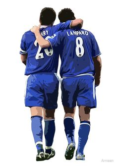 Terry and Lampard Artwork by ArmaanJohn Terry and Frank Lampard Artwork T shirt - Chelsea FC Chelsea Wallpapers, Chelsea Fc Wallpaper, Premier League, Chelsea Fc Players, Chelsea Soccer, Chelsea Squad, Morgan Soccer, Long Hoodie, Football Players