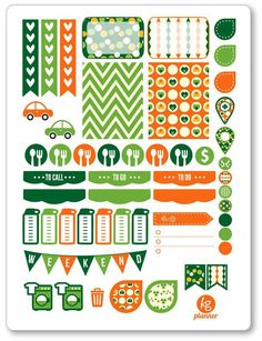 St. Patty's Weekly Spread Planner Stickers