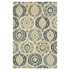 Handcrafted rug with a medallion motif.  Product: RugConstruction Material: 100% PolyesterColor: Ivor...