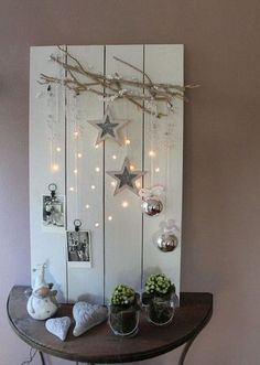 Rustic Winter Decorating Light Board. This delicate light board will add more winter wonderland feel to your home. Love it very much! I will have one for my home this winter.