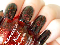 Muffin Nails: Swatch/Review: Kleancolor - Chunky Holo Scarlet