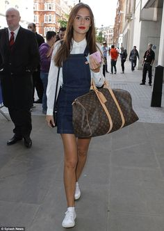 Dressed to impress: Lucy Watson looked the picture of understated chic as she arrived at the BBC Radio 1 studios in central London on Thursday