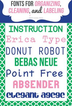 Free Font Download: Free Fonts for Organizing, Cleaning, and Labeling