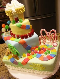 candy land cake Aunt Jessica this has been requested by Natalie for her birthday!