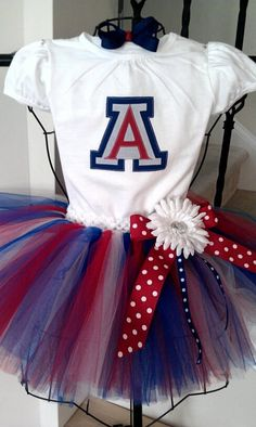 cute!  University of Arizona Themed Tutu Set! i want one for me! Perfect for Madison @Sarah Sloyan! or Reece @Megan Kramer Kramer:)