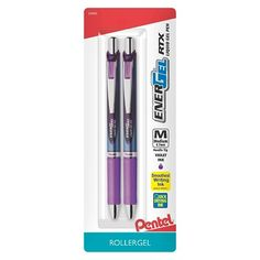 Pentel Energel 2ct Purple Retractable Gel Ink Pen---They have these at Target.   I can never have too many of these. I go through them like crazy. Seriously. Buy me like 100. I like this brand because the purple is a nice blue-purple. Not like the annoying pink purple of so many other purple gel pens. Though there are other gel pen brands that are good too. So long as it's a blue-purple, and gel, I'm happy. :)