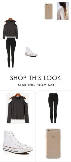 """""""Untitled #366"""" by melissaperez427 on Polyvore featuring Topshop, Converse and Agent 18"""