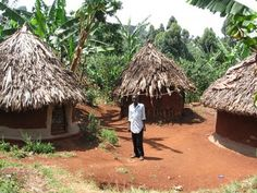 I picture African houses like these tribal houses in Africa