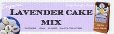 Wholesome Chow's Organic Gluten Free & Vegan Lavender Cake Mix.  Have you tried it yet?