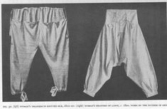History of Underclothes, 1811-1820 underdrawers