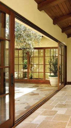 *NEW* Wood sliding glass door. Could also be applied to windows along the main window wall